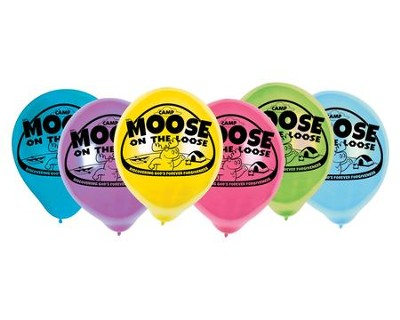 Camp Moose on the Loose: Logo Balloons, 25-pack  -