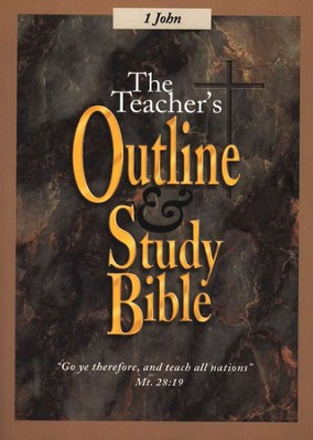 Teacher's Outline & Study Bible KJV: I John    -
