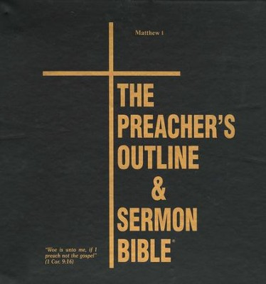 Matthew: Part 1 [The Preacher's Outline & Sermon Bible, KJV  Deluxe]  -