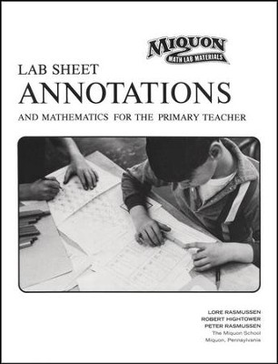 Miquon Math Lab Sheet Annotations  -