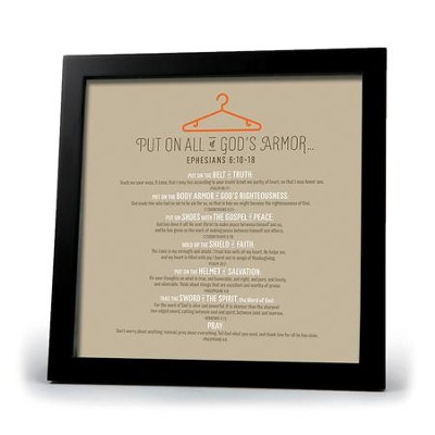 Armor Of God Plaque  -