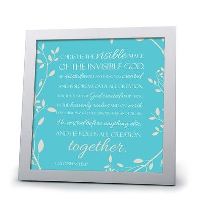 Christ Is the Visible Image of the Invisible God Plaque  -