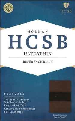 HCSB Ultrathin Reference Bible, Brown and Chocolate LeatherTouch  -