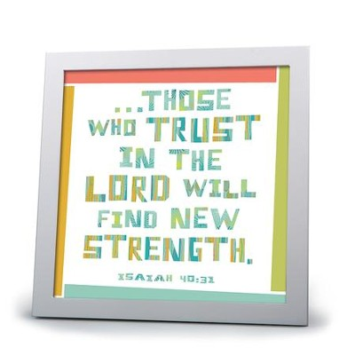 My Hope, Those Who Trust In the Lord Plaque  -