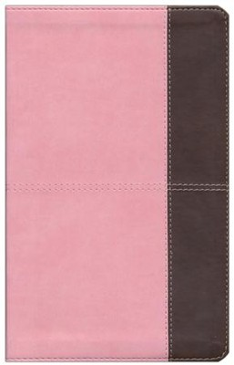 HCSB Ultrathin Reference Bible, Pink and Brown LeatherTouch  -
