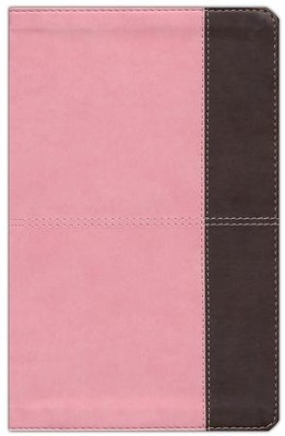 HCSB Ultrathin Reference Bible, Pink and Brown LeatherTouch, Thumb-Indexed  -