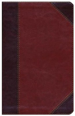 HCSB Ultrathin Reference Bible, Classic Mahogany LeatherTouch  -
