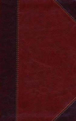 HCSB Ultrathin Reference Bible, Classic Mahogany LeatherTouch, Thumb-Indexed  -