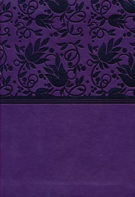 HCSB Large Print Compact Bible, Purple LeatherTouch  -