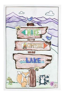 Camp Moose on the Loose: Paint a Camp Sign Poster (pkg. of 24)  -