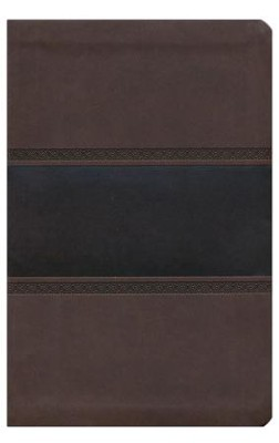 HCSB Large Print Personal Size Bible, Brown and Chocolate LeatherTouch,Thumb-Indexed  -