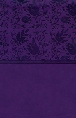 HCSB Large Print Personal Size Bible, Purple LeatherTouch, Thumb-Indexed  -
