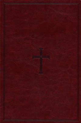 HCSB Large Print Ultrathin Reference Bible, Brown LeatherTouch, Thumb-Indexed  -
