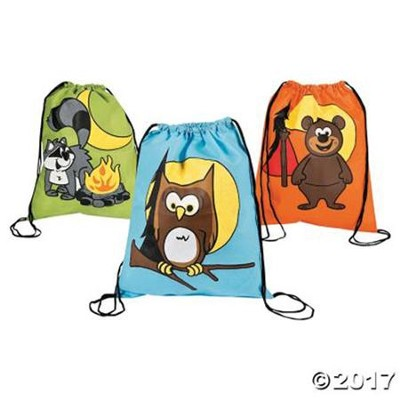 Camp Moose on the Loose: Camp Critters Drawstring Bags (pkg. of 12)  -