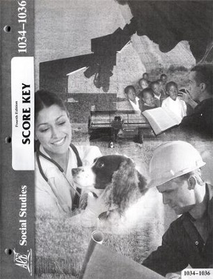 4th Edition Social Studies Score Keys 1034-1036 Grade 3  -