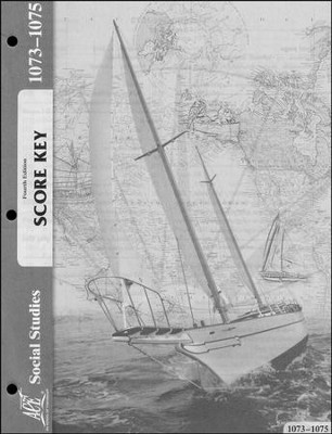 4th Edition Social Studies Score Keys 1073-1075 Grade 7  -