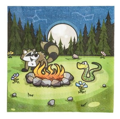 Camp Moose on the Loose: Campsite Lunch Napkins, 16-pack  -