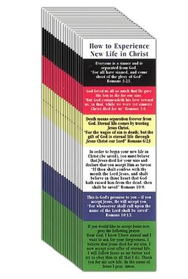 New Life Plan Of Salvation Bookmark Pack Of 25 Christianbook Com