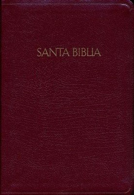 RVR 1960 Biblia Letra Grande Tama&#241o Manual con Referencias, borgo&#241a piel fabricada con &#237ndice, RVR 1960 Hand Size Large-Print Reference Bible, Burgundy Bonded Leather, Thumb-Indexed  -