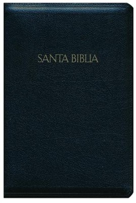 Biblia RVR 1960 Letra Gde.Tam. Manual Ref. Piel Fab. Negra Cierre   (RVR 1960 Hand Large-Pt Ref. Bible, Bk. Bon.  Leather Zipper)  -