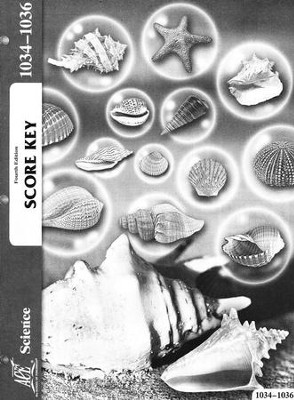 4th Edition Science Score Key 1034-1036 Grade 3  -