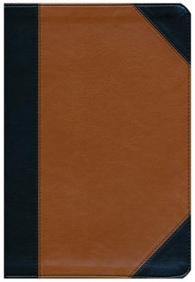 KJV Study Bible Personal Size, Black and Tan LeatherTouch  -