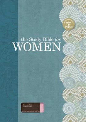 The Study Bible for Women, Brown and Pink LeatherTouch  -