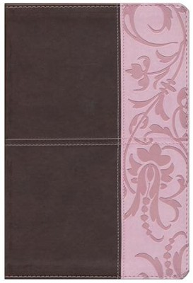 The Study Bible for Women, Brown and Pink LeatherTouch, Thumb-Indexed  -