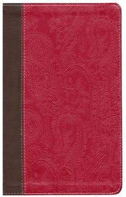 NIV Devotional Bible for Women--soft leather-look, chocolate/berry  -     By: Angela Scheff