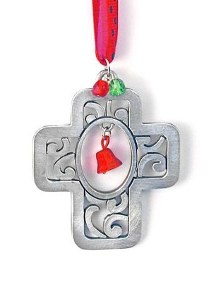Cross with Bells Ornament  -