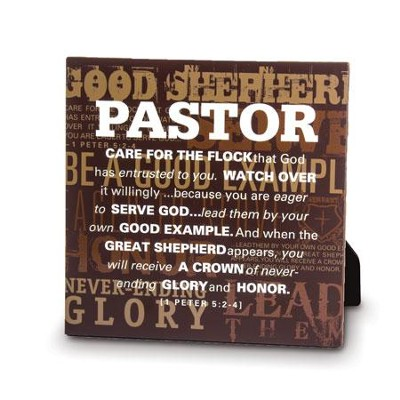 Pastor, Good Shepherd Plaque  -