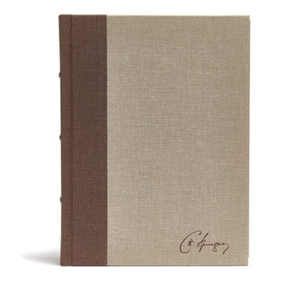 CSB Spurgeon Study Bible, Cloth Over Board  -