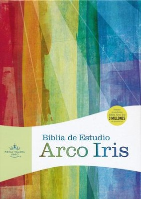 Biblia de Estudio Arco Iris RVR 1960, Piel Imit. Negra  (RVR 1960 Rainbow Study Bible, Black Imitation Leather)  -
