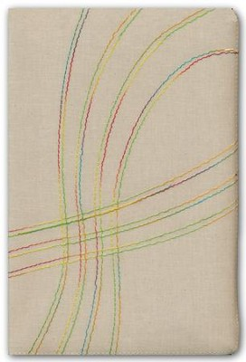 Biblia de Est. Arco Iris RVR 1960, Tela Bordado Multicolor, Ind.  (RVR 1960 Rainbow Study Bible, Multicolor Stitch Cloth, Ind.)  -