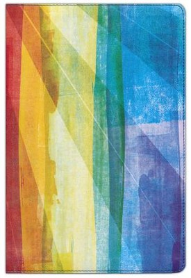 Biblia de Estudio Arco Iris RVR 1960, Piel Simil Multicolor  (RVR 1960 Rainbow Study Bible, Multicolor LeatherTouch)  -