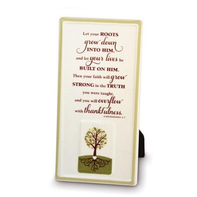 Plaque - Tree - Let Your Roots Grow  -