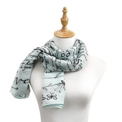 Friends, Poetic Threads Scarf, Aqua  -