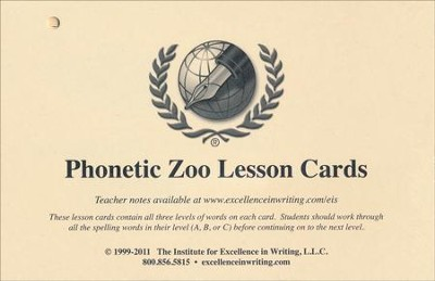 Phonetic Zoo Budget Package (No Audio CDs)   -     By: Andrew Pudewa, James B. Webster