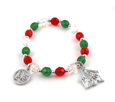 Love and Nativity, Christmas Charm Bracelet  -