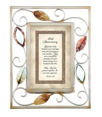 50th Anniversary, Matthew 19:6 Framed Print  -