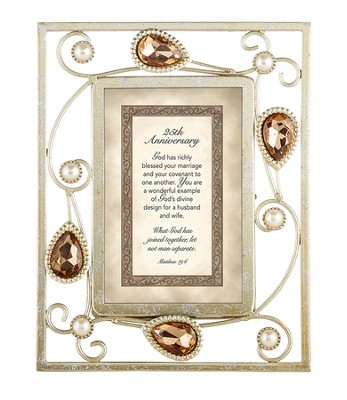 25th Anniversary, Matthew 19-6 Framed Print  -