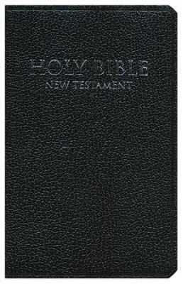 NIV Shirt Pocket New Testament, Imitation Leather,Black   -