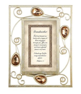 Grandmother, Philippians 1:3 Framed Print  -