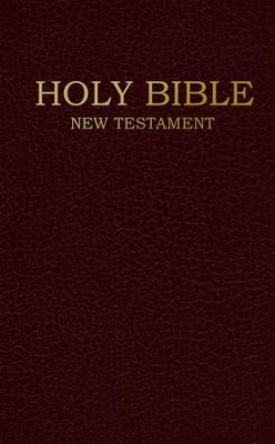 NIV Shirt Pocket New Testament, Imitation Leather,      Burgundy  -