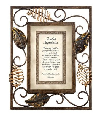 Heartfelt Appreciation, Hebrews 6:10 Framed Print  -