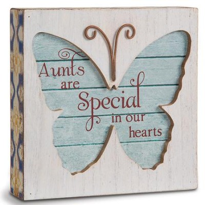Aunts Are Special In Our Hearts, Butterfly Plaque  -