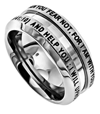 Fear Not Industrial Men's Ring, Size 11 (Isaiah 41:10)  -