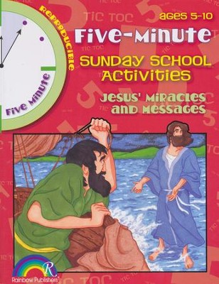 5 Minute Sunday School Activities: Jesus' Miracles and Messages  -
