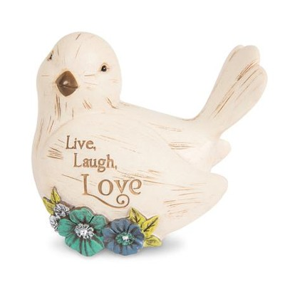Live, Laugh, Love Bird Figurine  -
