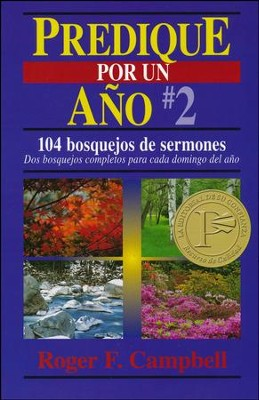Predique por un Año #2  (Preach for a Year #2)  -     By: Roger F. Campbell